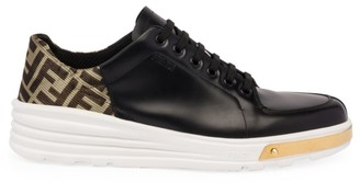 Fendi Monogram Patch Mix Media Hybrid Sneakers
