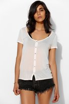Urban Outfitters Project Social T Sheer Button-Down Tee