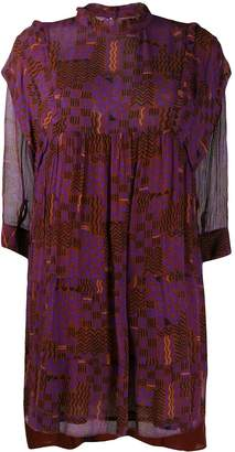 BA&SH abstract print Maha dress