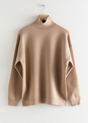 And other stories Oversized Micro Knit Turtleneck