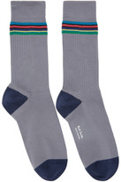 Paul Smith Grey Duo Rib Socks