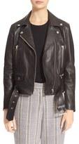 Acne Studios Women's Lambskin Mock Moto Jacket