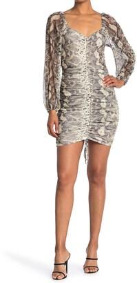 Kenedik Powermesh Ruched Front Dress