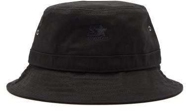 489ae1ca4 Logo Embroidered Cotton Bucket Hat - Mens - Black