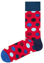 Happy Socks Dotted Crew Socks