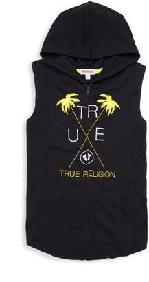 True Religion Little Boy's & Boy's Graphic Sleeveless Hoodie
