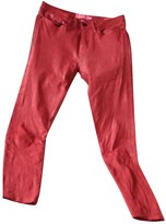 Frame Red Leather Trousers for Women