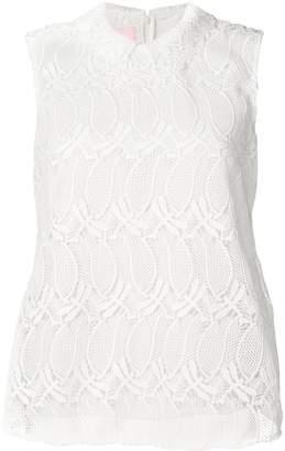 Giamba embroidered sleeveless vest top