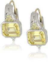 "Judith Ripka Estate"" Estate Cushion Wire Earrings"