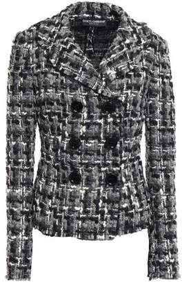 Dolce & Gabbana Double-breasted Wool-blend Boucle-tweed Jacket