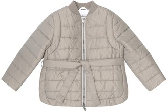 BRUNELLO CUCINELLI KIDS Belted down jacket