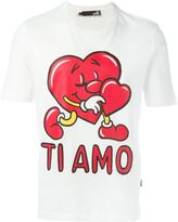 Love Moschino love heart print T-shirt