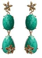 Amrita Singh Crystal & Resin Flower Drop Earrings.