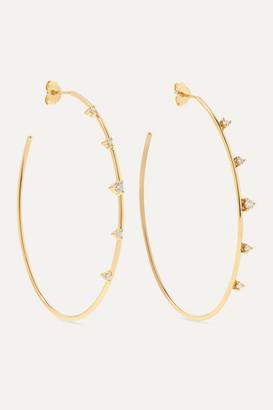 Mizuki 14-karat Gold Diamond Hoop Earrings - one size