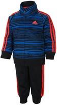 adidas Boys' Tricot Striped Jacket & Jogger Pants Set - Sizes 2T-3T