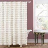 Lush Decor Emma Shower Curtain, 72 by 72-Inch, Ivory