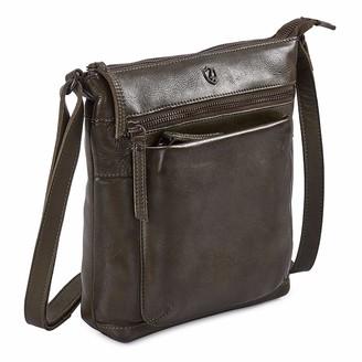 COCHOA Women's Real Leather Triple Zip Crossbody Bags Purse Travel Bag