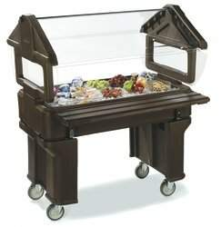 Carlisle Food Service Products Six StarTM Bar Cart Food Service Products Frame Color: Black
