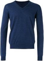 Lanvin three material V-neck jumper
