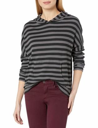 Stateside Women's Stripe Thermal Longsleeve Hoodie