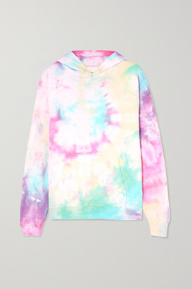 Dannijo Hailey Tie-dyed Cotton-blend Jersey Hoodie - Red