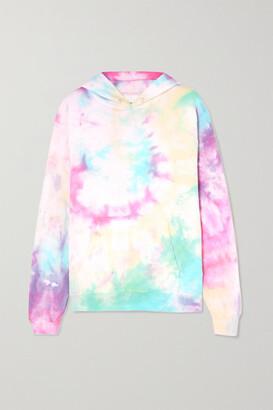 Dannijo Hailey Tie-dyed Cotton-blend Jersey Hoodie