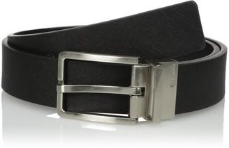 Calvin Klein Men's Round Edge Buckle 35mm Reversible Belt