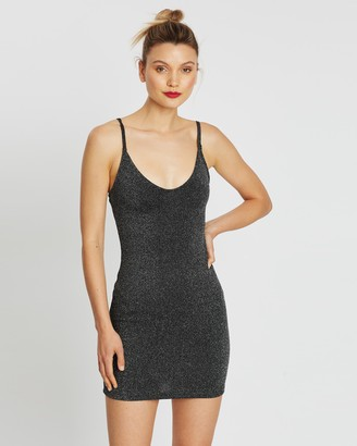 Miss Selfridge Glitter Slip Mini Dress