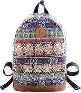 DouGuYan Fashion Print Rucksack Girl's Casual Cotton Canvas Backpack School College Travel Bag Fit in 14 Inches Computer and Ipad Air, Campus Cute Satchel 9 Colors