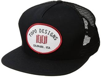 Topo Designs Snapback Hat (Black) Caps