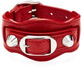 Balenciaga Classic Buckle Leather Bracelet