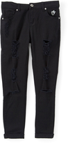 Dollhouse Black Distressed Super Stretch Pants - Girls