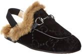 Gucci Velvet Slipper