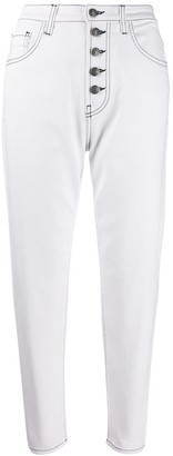 Pinko cropped high waisted jeans