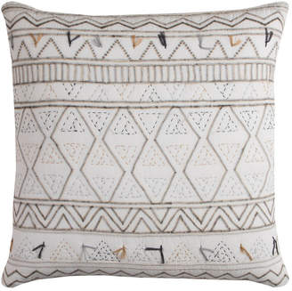 """Rizzy Home 22"""" x 22"""" Tribal Global Traveller Pillow Down Filled"""