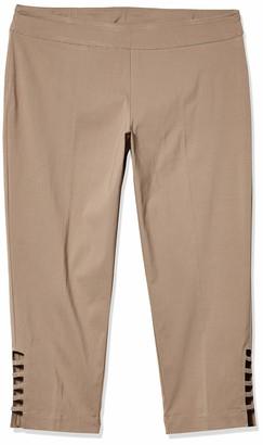Slim Sation SLIM-SATION Women's Plus Size Solid Skinny Pant