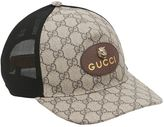 Gucci Coated Original Gg Tiger Trucker Hat