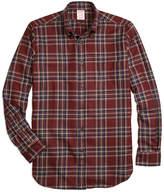Brooks Brothers Regent Fit Saxxon Wool Plaid Sport Shirt