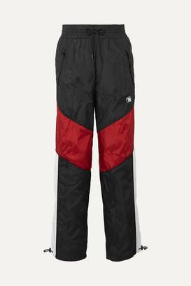Alexander Wang Paneled Embroidered Shell-jacquard Track Pants - Black