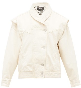 Isabel Marant Eriala Detachable-sleeves Denim Jacket - Womens - Ivory