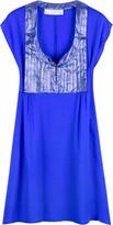Textured silk mini dress