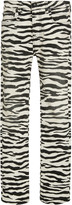 R 13 Kick Fit Zebra-Print Jeans