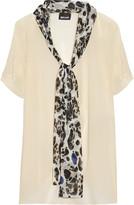 Just Cavalli Neck-tie chiffon blouse