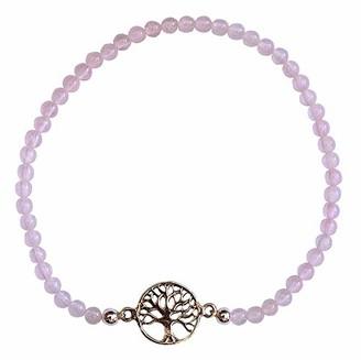 Saraswati Unisex Silver Stretch Bracelet - AC422