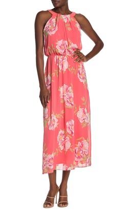 Robbie Bee Sleeveless Floral Print Maxi Dress