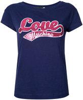 Love Moschino logo front T-shirt - women - Cotton/Spandex/Elastane - 42