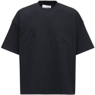 Jil Sander Cactus & Gecko Embroidery Cotton T-Shirt