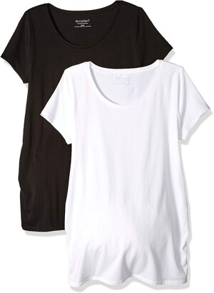 Motherhood Maternity Women's Maternity BumpStart 2 Pack Short Sleeve Tee Shirts