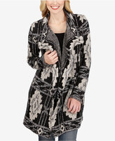Lucky Brand Draped Printed Cardigan