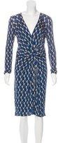 Issa Printed Stretch Knit Dress